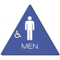 California MEN Accessible Restroom Door Sign – Styrene