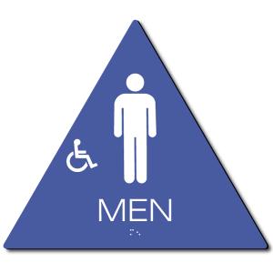 California MEN Accessible Restroom Door Sign – Styrene
