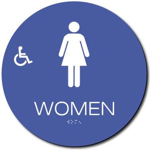 California WOMEN Accessible Restroom Door Sign – Styrene