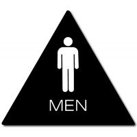 California MEN Restroom Door Sign