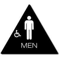 California MEN Accessible Restroom Door Sign