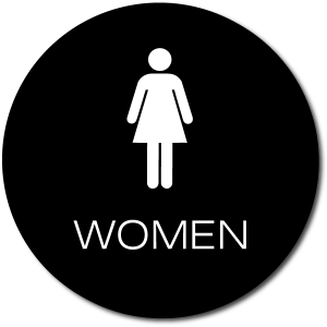 California WOMEN Restroom Door Sign