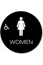 California WOMEN Accessible Restroom Door Sign