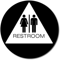 California Unisex RESTROOM Door Sign