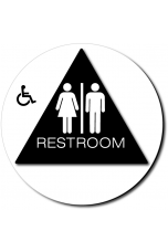 California Unisex Accessible RESTROOM Door Sign - Color Reverse