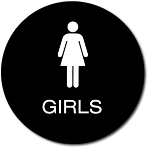 California GIRLS Restroom Door Sign