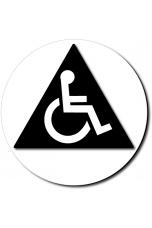 California All Gender Accessible Restroom Door Sign - Color Reverse