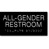 California ALL GENDER RESTROOM Text Wall Sign