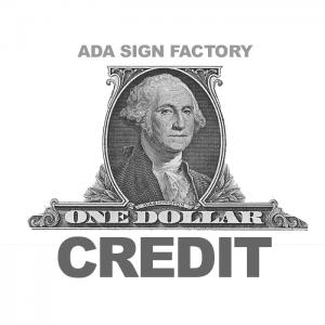$1 Credit
