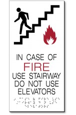IN CASE OF FIRE Large Sign