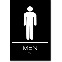 California MEN Restroom Wall Sign