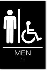 MEN Accessible Restroom Sign