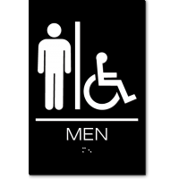 California MEN Accessible Restroom Wall Sign