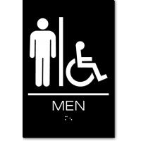 California MEN Accessible Restroom Wall Sign