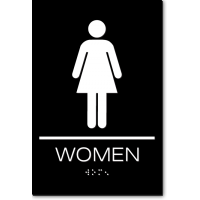 California WOMEN Restroom Wall Sign