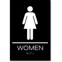 California WOMEN Restroom Wall Sign
