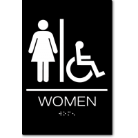 California WOMEN Accessible Restroom Wall Sign