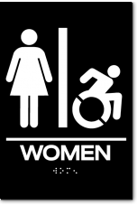 WOMEN Speedy Wheelchair Restroom Sign - NY/CT