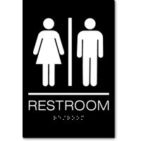 California Unisex RESTROOM Wall Sign