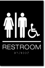 California Unisex RESTROOM Accessible Wall Sign