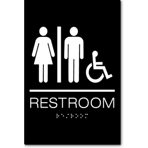Unisex RESTROOM Accessible Sign