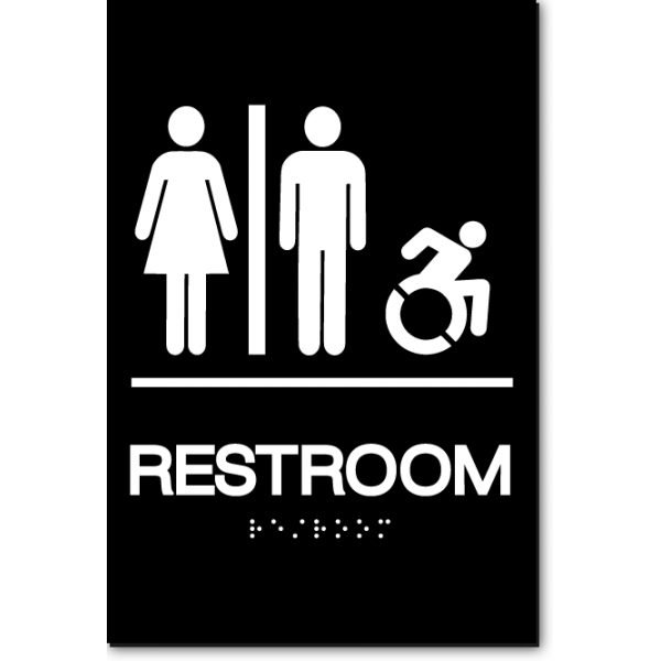 Unisex Accessible Restroom Sign Ny Ct Ada Sign Factory