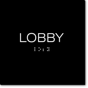 LOBBY Sign
