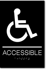 ACCESSIBLE Wheelchair Sign
