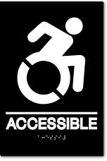 ACCESSIBLE Speedy Wheelchair Sign - NY/CT