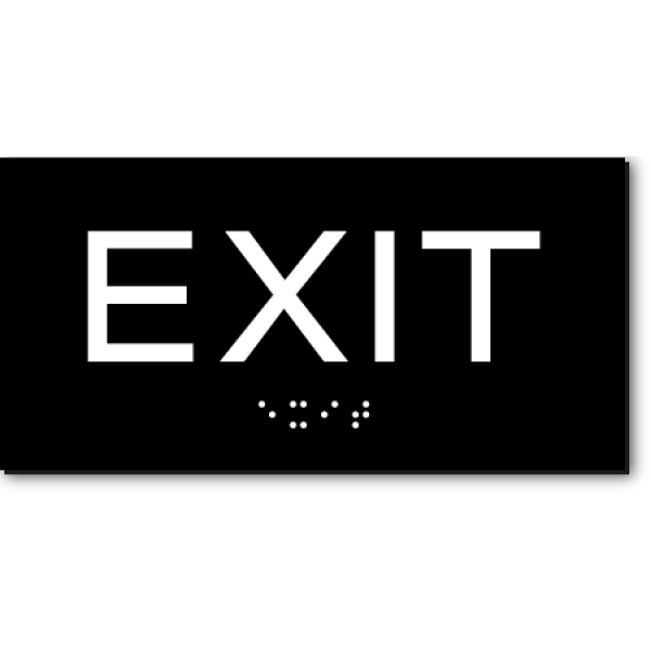 Exit Small Sign Ada Sign Factory