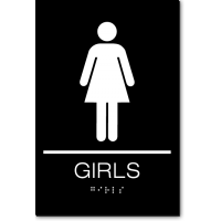 California GIRLS Restroom Wall Sign
