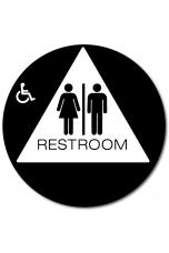 California Unisex Accessible RESTROOM Door Sign