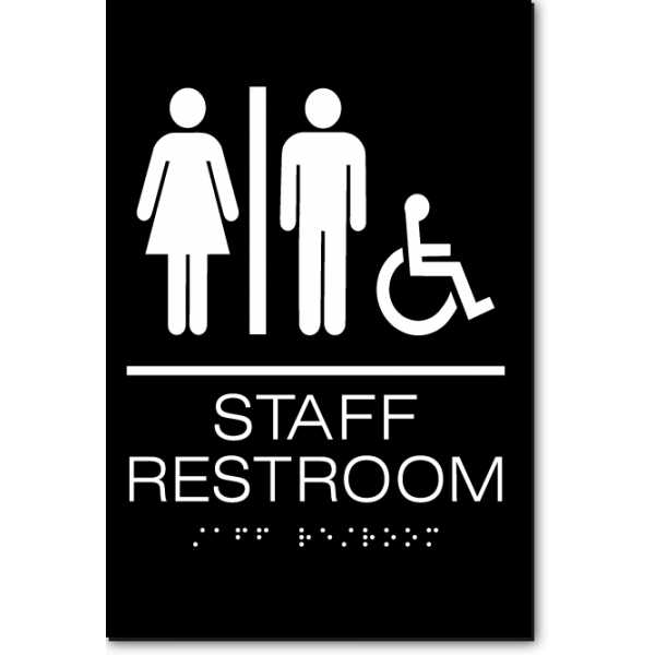 Staff Accessible Restroom Sign Ada Sign Factory