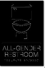 California ALL GENDER RESTROOM Toilet Wall Sign