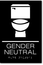 GENDER NEUTRAL Restroom Sign