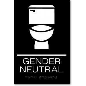 GENDER NEUTRAL Restroom Sign