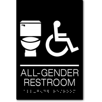ALL GENDER RESTROOM Accessible Toilet Sign
