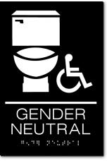 GENDER NEUTRAL Accessible Restroom Sign