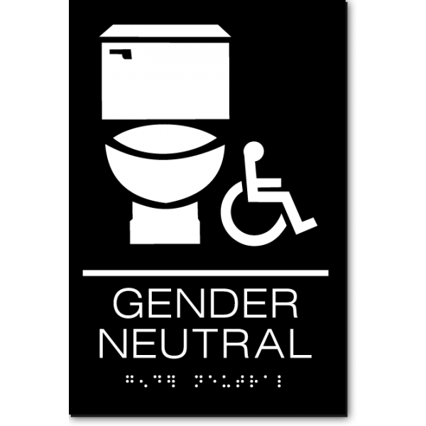 Gender Neutral Accessible Restroom Sign Ada Sign Factory