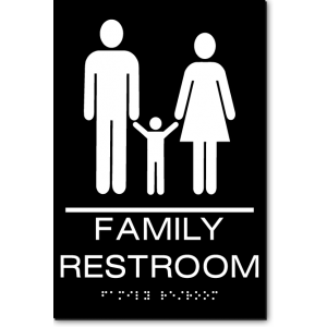 California FAMILY RESTROOM Wall Sign