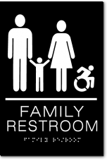 FAMILY RESTROOM Speedy Wheelchair Sign - NY/CT