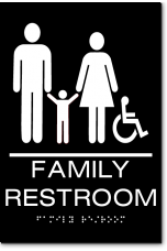 California FAMILY RESTROOM Accessible Wall Sign