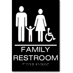 FAMILY RESTROOM Accessible Sign