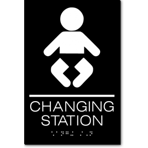 CHANGING STATION Sign
