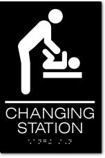 CHANGING STATION Men Sign