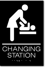 CHANGING STATION Women Sign
