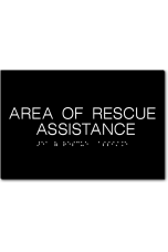 AREA OF RESCUE ASSISTANCE Sign