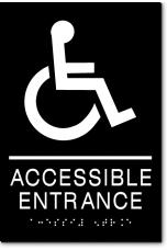 ACCESSIBLE ENTRANCE Wheelchair Sign