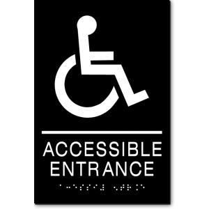 ACCESSIBLE ENTRANCE Wheelchair Sign