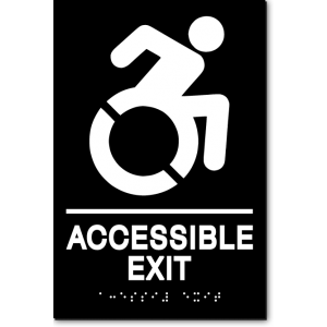 ACCESSIBLE EXIT Speedy Wheelchair Sign - NY/CT